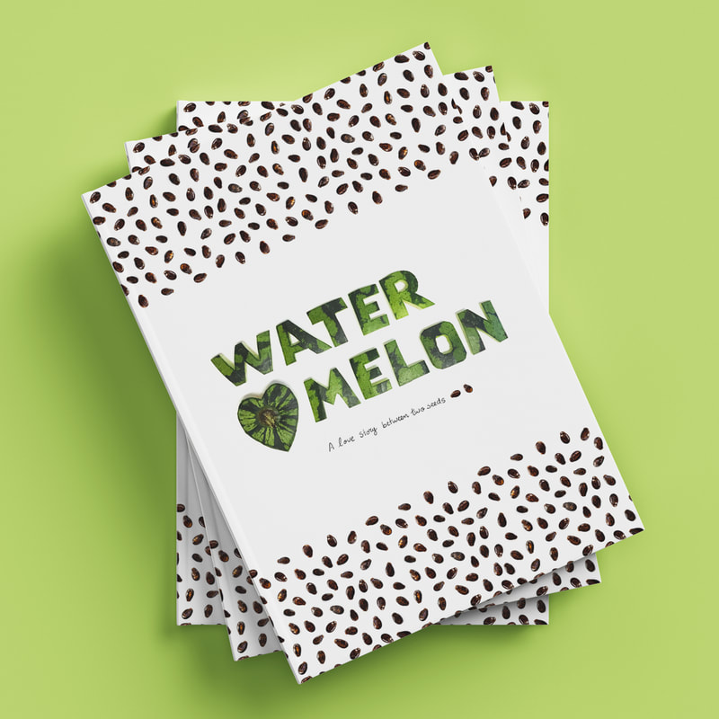 Handmade graphic design, watermelon, graphic artist